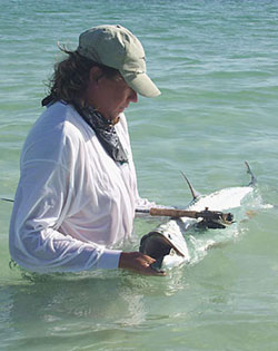 Tarpon fishing with a flyrod